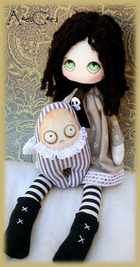 Creepy Handmade Dolls - handmade creepy cloth doll with skull