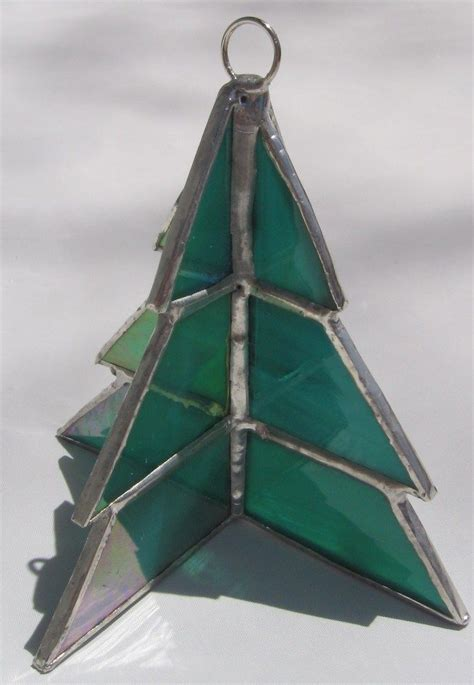 stained glass 3d christmas tree ornament by wendy wehe