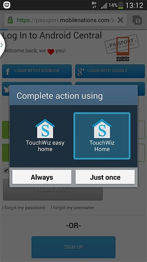 Touchwiz Easy Home App by Galaxy S4 Touchwiz Won T Stay As Default Launcher Page 2 Android Forums At Androidcentral