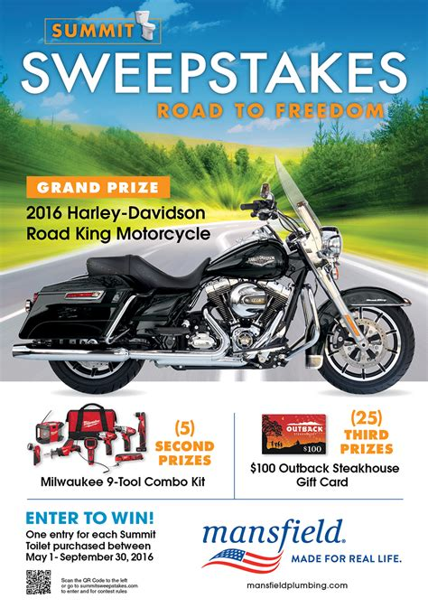 Sweepstakes Starts - new road to freedom sweepstakes mansfield plumbing