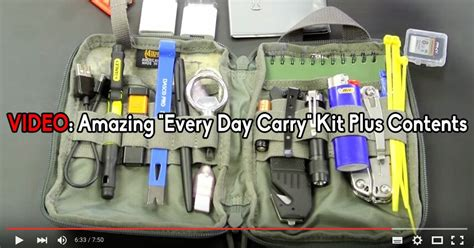 every day carry kit amazing quot every day carry quot kit plus contents grid