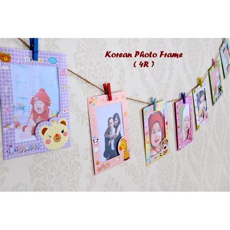 Bingkai Foto Gantung Isi 9 korean photo frame 4r bingkai foto gantung dilengkapi