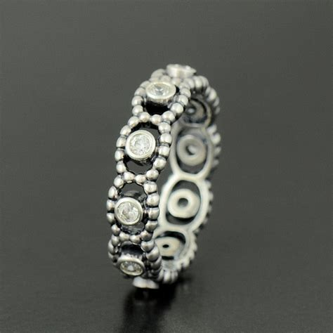 authentic genuine pandora clear my princess ring size 52