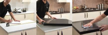 how the countertop overlay installation process works