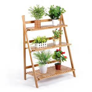 Flower display rack wood flower display shelf for plant stand flower