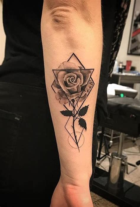 geometric rose tattoo 2558 best tattoos images on