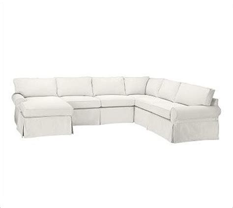4 piece sectional slipcover pb basic right 4 piece chaise sectional slipcover twill