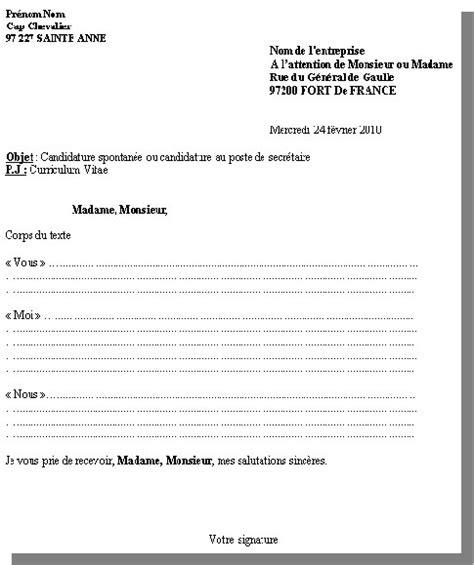 Présentation De Lettre De Motivation Manuscrite Lettre De Motivation