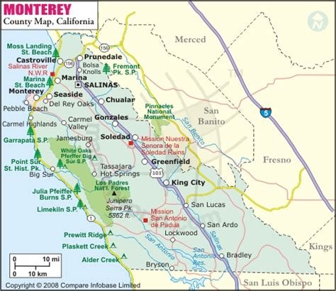 san jose monterey map the land wineries of monterey county