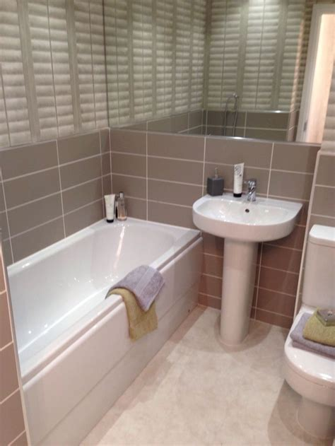 show home bathroom barratt homes brown and tiles