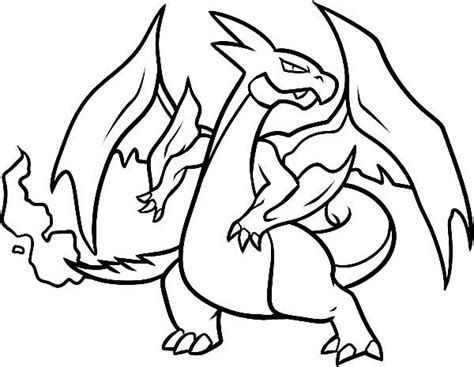 Charizard Ex Coloring Pages by Coloring Pages Mega Charizard Ex Coolage Net