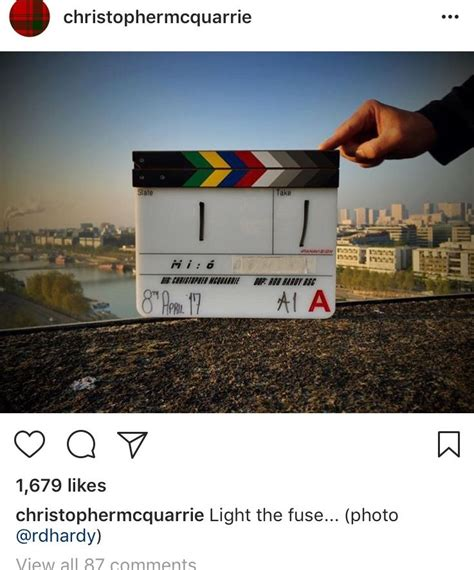 mission impossible 6 four reasons mission impossible 6 four reasons to check out christopher mcquarrie s instagram