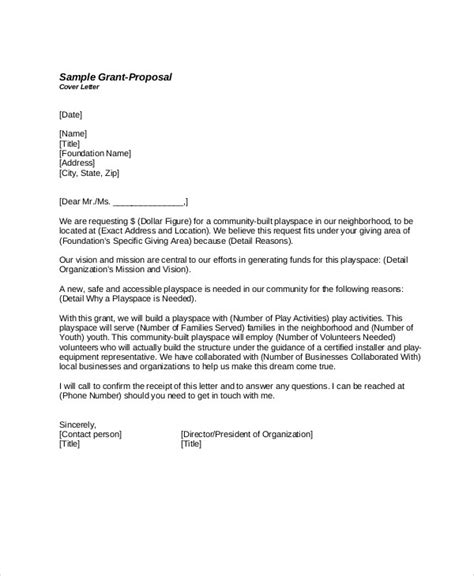 Grant Cover Letter by Sle Grant Letter 9 Exles In Word Pdf
