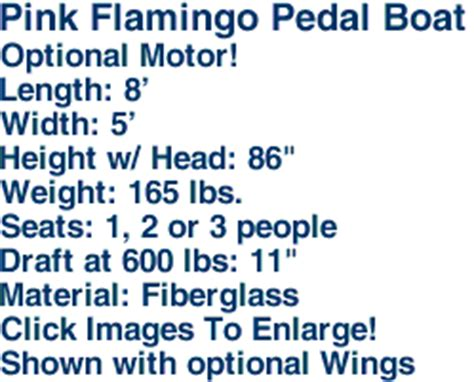 flamingo pedal boat for sale pink flamingo pedal boat