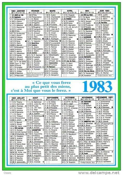 Calendrier De 1983 Calendrier 1983 Format 15 5 X 11 5 D 233 Pli 233 E 23 X15 5