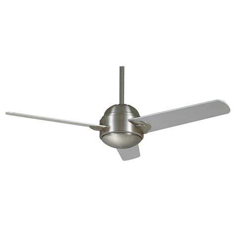 Ceiling Fan Brushed Nickel With Light Shop Casablanca Trident 54 In Brushed Nickel Ceiling Fan With Light Kit And Remote At Lowes