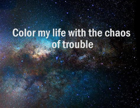 and sebastian a space boy lyrics color my with the chaos of trouble on
