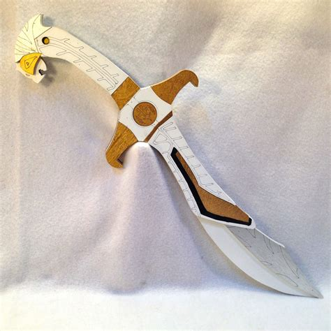 How To Make A Power Ranger Sword Out Of Paper - white ranger sword saba power ranger replica