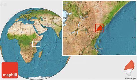 satellite location map  malindi
