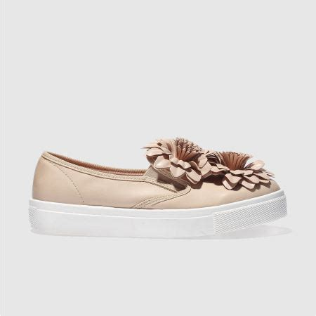 womens pale pink schuh awesome flowers flat shoes schuh