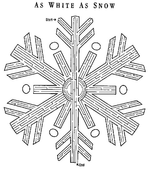 printable snowflake maze christianity nativity pictures to colour new calendar