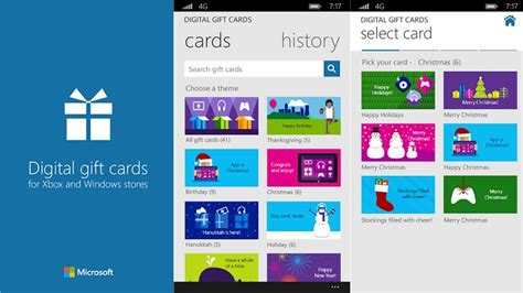 Digital Gift Cards Uk - microsoft launches digital gift cards for windows phone ahead of christmas techie news