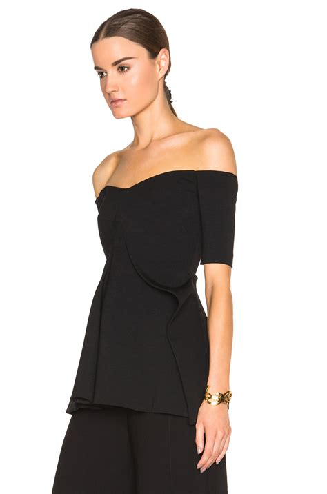 Black Sabrina Top stella mccartney sabrina top in black lyst