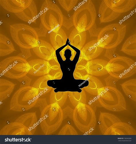 background x position yoga position on mandala background stock photo 156363269