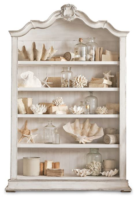 rousseau country antique white silver gilt display