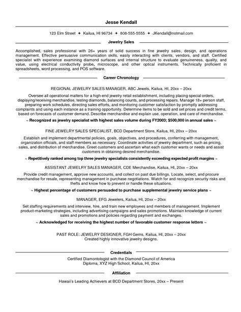 resume for a sles retail sales resume objective resume ideas