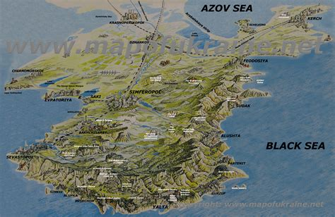 3d maps map of crimea detailed 3d map of crimean peninsula