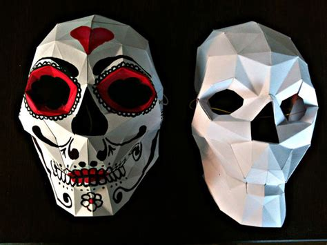 Paper Craft Skull - bonus papercraft skull mask