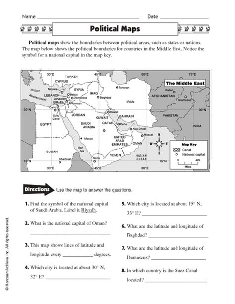 america map skills worksheets map skills 101 collection lesson planet
