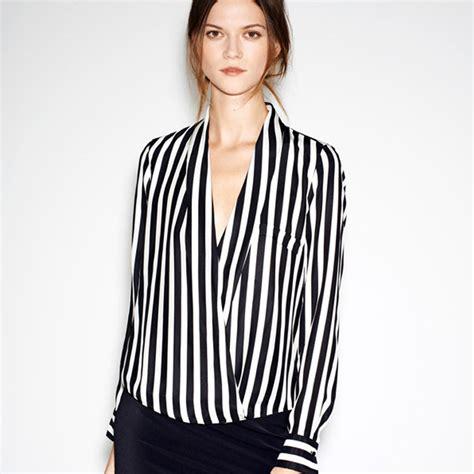 Blouse Starburks White Or Black 2015 sleeve blouse black and white clothing v shirt summer chiffon top