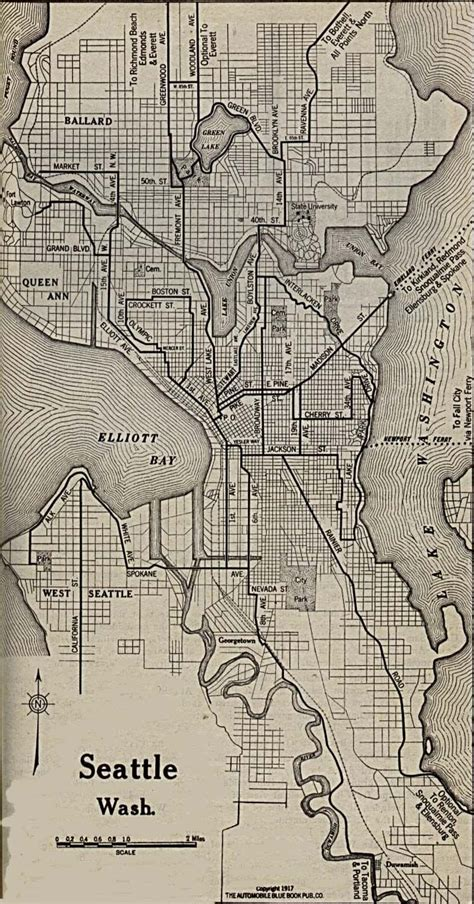 seattle highway map seattle washington 1917 places i d rather be