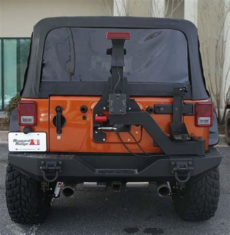 rugged ridge tire carrier rugged ridge 11546 25 xhd generation ii swing and lock tire carrier automotive