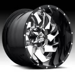 Custom Truck Wheels And Rims Fuel D240 Cleaver 2 Pc Chrome Black Custom Truck Wheels