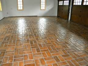 Tiles For Garage Floor Concrete Tiles Garage Floor With Wax Finish Wow