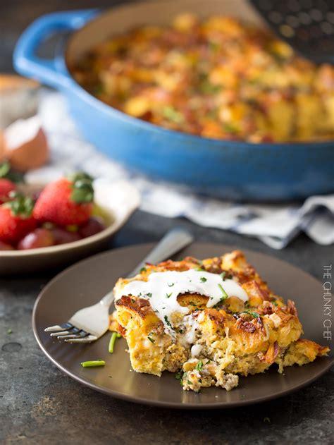 easy overnight breakfast strata the chunky chef