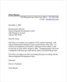 sample internship acceptance letter 6 documents in pdf