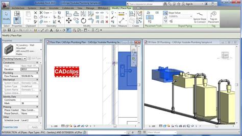 Plumbing In Revit by Revit Mep And Cold Water Plumbing Cadclips