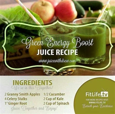 recipe for green energy drink green energy boost drink recipes drinks