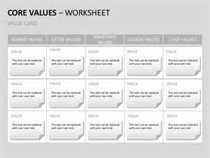 company core values english templates