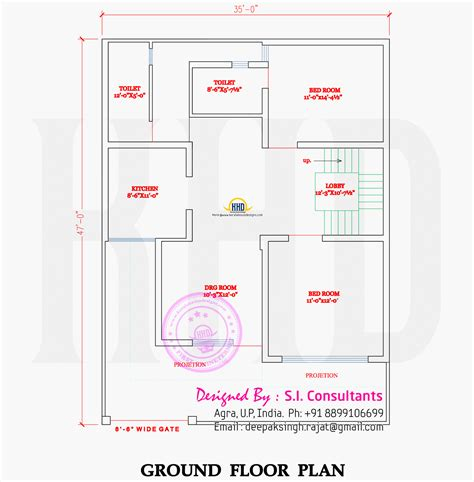 House Plans 2000 Sq Ft north indian style flat roof house with floor plan