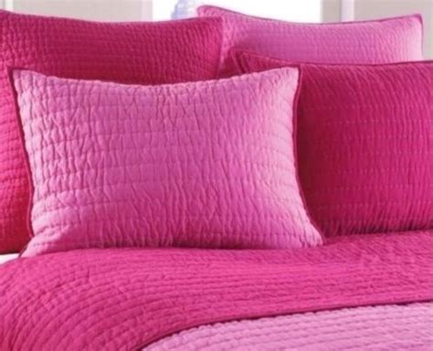 pink coverlet queen nostalgia home pick stitch pink berry reversible full