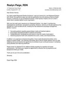 Dietitian Assistant Cover Letter by Wellness Cover Letter Exles For Healthcare Livecareer