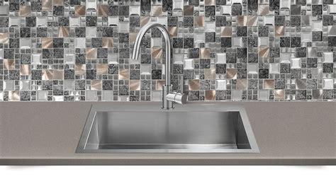 Glass Metal Gray Copper Mosaic Backsplash Tile