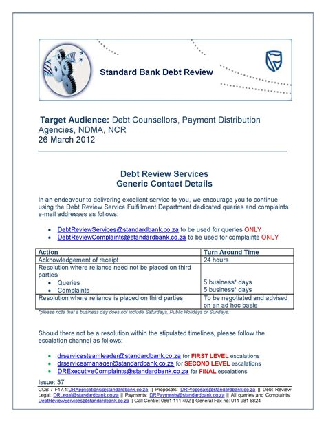 contact standard bank std bank contact details for debt review matters