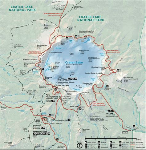 map of oregon national parks northwest hiker presents hiking in the crater lake
