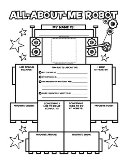 all about me worksheet for kindergarten 1000 images